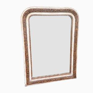 Antiker französischer Spiegel mit gebogener Tischplatte