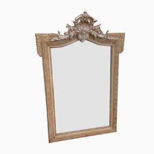 Antiker französischer Spiegel aus geschnitztem Holz