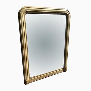 Antiker französischer Spiegel aus geschnitztem Holz von Overmantal