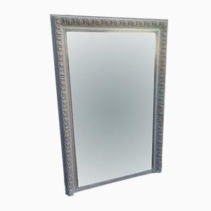 Großer antiker französischer Spiegel mit geschnitztem Holzrahmen