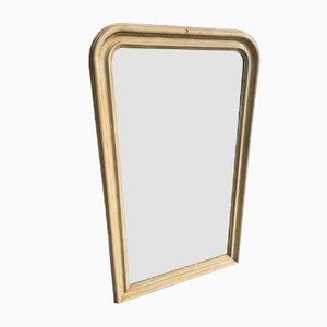 Espejo francés estilo Louis Philippe antiguo con superficie arqueada