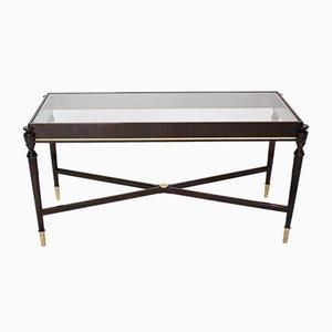 Tavolino da caffè Mid-Century impiallacciato in mogano di Paolo Buffa