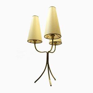 Lampe de Bureau en Laiton par Jean Royère, 1950s