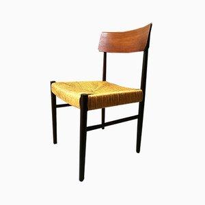 Skandinavische Stühle aus Palisander & Stroh, 1960er, 6er Set