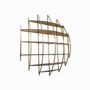 Spherical Brass Wall Unit by Manfredo Massironi for Nikol International, 1970s