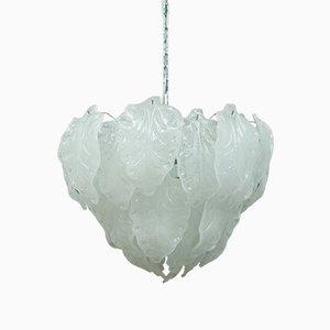 Lámpara de araña italiana moderna de cristal de Murano, años 70