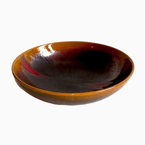 Vintage Italian Terracotta Bowl by Carlo Zauli for Faenza, 1974