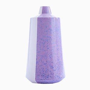 Vase Half 'n' Half en Céramique Violette par Tal Batit, 2018