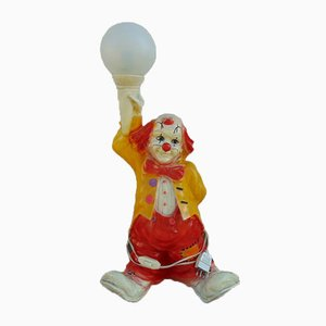Vintage Clown Table Lamp, 1980s