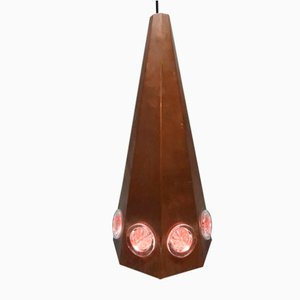 Danish Copper Ceiling Lamp by Svend Aage Holm Sørensen for Holm Sørensen & Co, 1960s