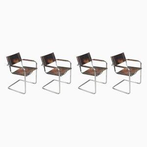 Chaises MG5 Bauhaus par Matteo Grassi, 1960s, Set de 4