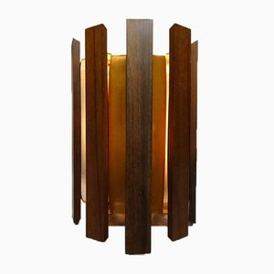 Danish Teak & Copper Sconce by Werner Schou for Coronell Elektro, 1960s