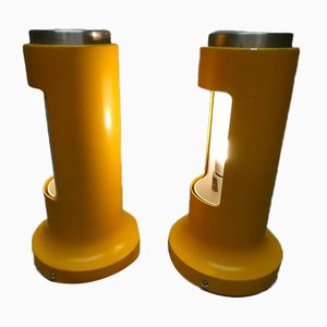 Dänische Modell Contact Tischlampen aus Aluminium von Peter Avondoglio für Fog & Mørup, 1973, 2er Set