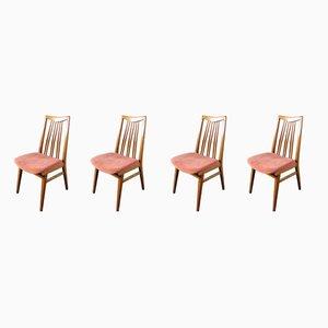 Deutsche Vintage Esszimmerstühle aus Holz, 1970er, 4er Set