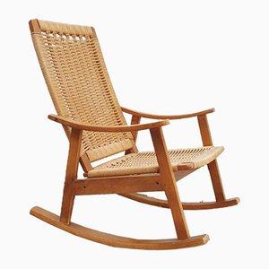 Rocking Chair en Hêtre et Corde par Hans J. Wegner, 1960s
