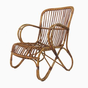 Wicker Lounge Chair from Rohé Noordwolde, 1960s
