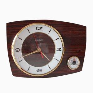 Reloj alemán vintage con termómetro de Coupatan, años 70