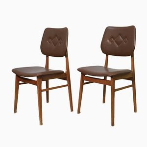 Mid-Century Swedish Leatherette Dining Chairs, 1960s, Set of 5