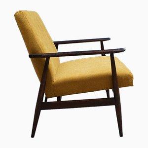 Beistellstuhl aus Holz von H. Lis, 1970er