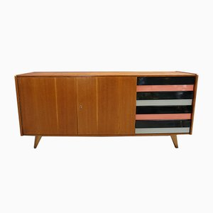 Beech and Plywood Sideboard by Jiří Jiroutek for Interier Praha, 1950s