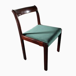 Vintage German Wooden Dining Chairs from Lübke, 1970s, Set of 6