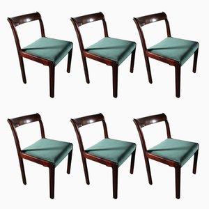 Deutsche Vintage Esszimmerstühle aus Holz von Lübke, 1970er, 6er Set