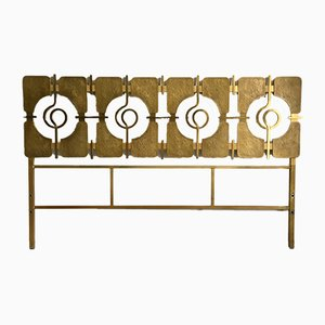 Italian Brass and Metal Headboard by Luciano Frigerio, 1960s