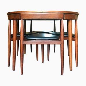 Danish Roundette Dining Room Set by Hans Olsen for Frem Røjle, 1960s