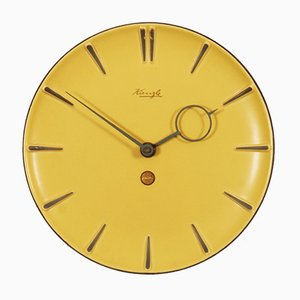 Deutsche Mid-Century Keramik Uhr, 1950er