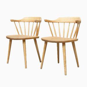 Beech Smaland Dining Chairs by Yngve Ekström, 1950s, Set of 2