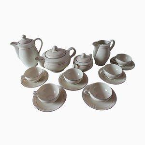 Juego de té de porcelana de TK Thun Bohemia, años 80