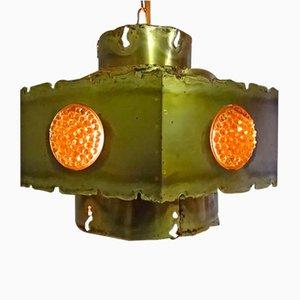 Danish Brutalist Ceiling Lamp by Svend Aage Holm Sørensen for Holm Sørensen & Co, 1960s