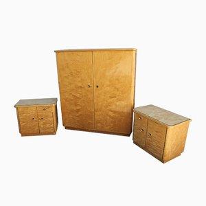 Armoire et 2 Tables de Chevet, Allemagne, 1960s