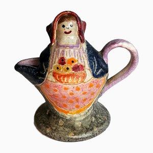 Italienische Mid-Century Kaffeekanne aus Keramik von Farin für Italica ARS