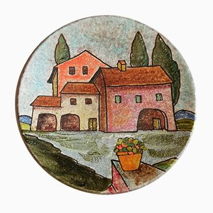 Vintage Ceramic Plate by Lazzaro for Italica ARS