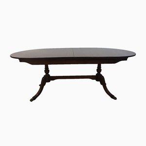 Tavolo da pranzo in stile Regency in mogano di Strongbow, anni '70