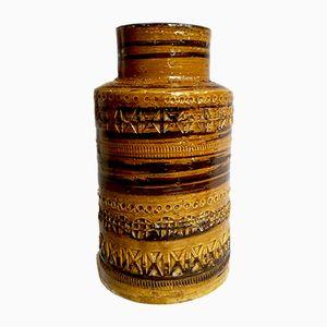 Mid-Century Italian Ceramic Vase by Aldo Londi for Bitossi