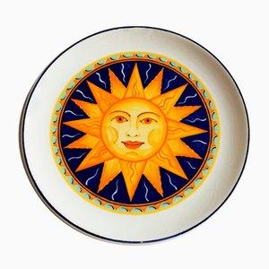 Vintage Keramikteller von SC Castelli, 1950er