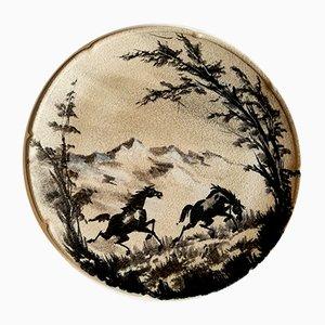 Piatto vintage in ceramica di Ce.As Albisola