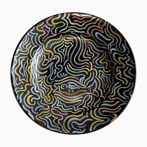 Piatto vintage di Deruta Ceramics