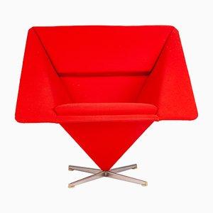 Dänischer Sessel aus Stoff & Stahl von Verner Panton für Plus-Linje, 1950er