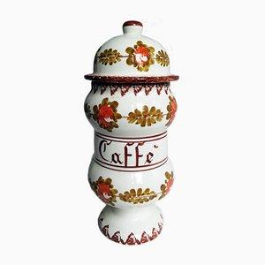 Italienische Mid-Century Keramikdose von GB Bassano Viero