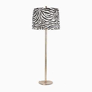 Lámpara de pie alemana de tela y metal galvanizado de Ingo Maurer para Design M, años 70