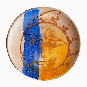Vintage Keramikteller von S. Robusti für Ecoarena, 2000er