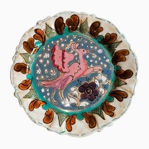 Vintage Ceramic Plate by Elio Schiavon