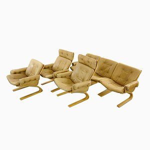 Scandinavian Modern Kengu Living Room Set by Elsa & Nordahl Solheim for Rybo Rykken & Co, 1970s