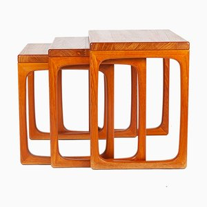 Scandinavian Modern Danish Teak Nesting Tables by Gelsted for Gelsted, 1960s