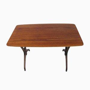 Vintage Iron and Teak Coffee Table, 1970s