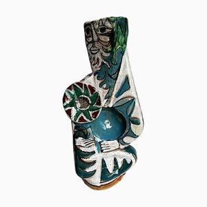 Mid-Century Italian Ceramic Vase by Elio Schiavon