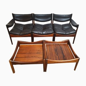 Danish Modus Living Room Set by Kristian Vedel for Søren Willadsen, 1960s